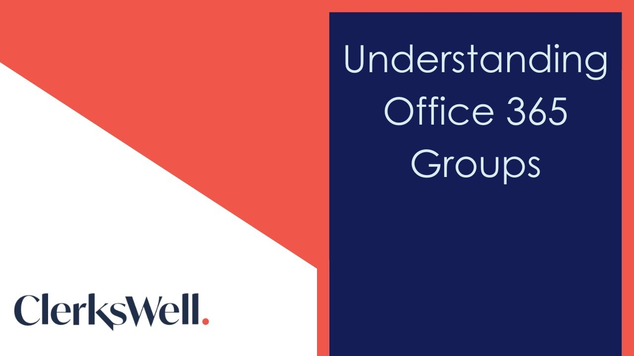 Understanding Office 365 groups