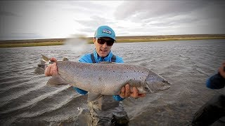 Baixar Giant Argentinian Sea Trout on 7 weights and 6 weight single handers!