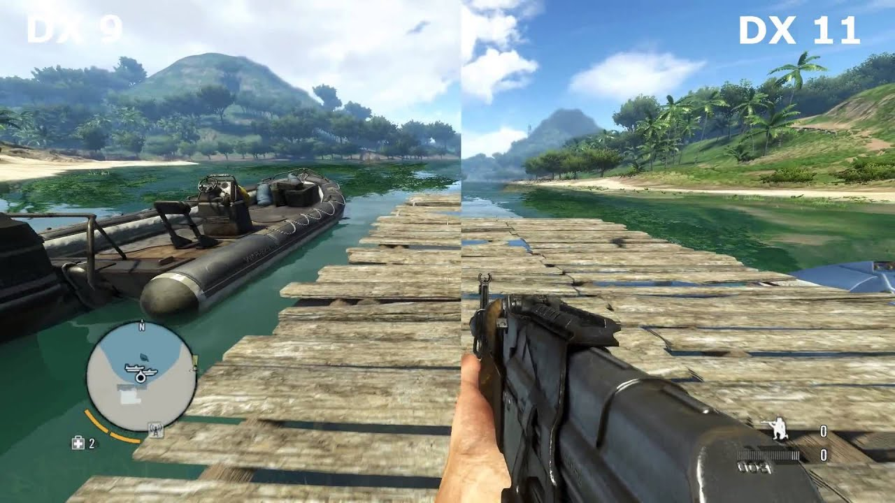 Far Cry 3 DirectX 9 vs DirectX 11 farcry3_d3d11.exe - YouTube