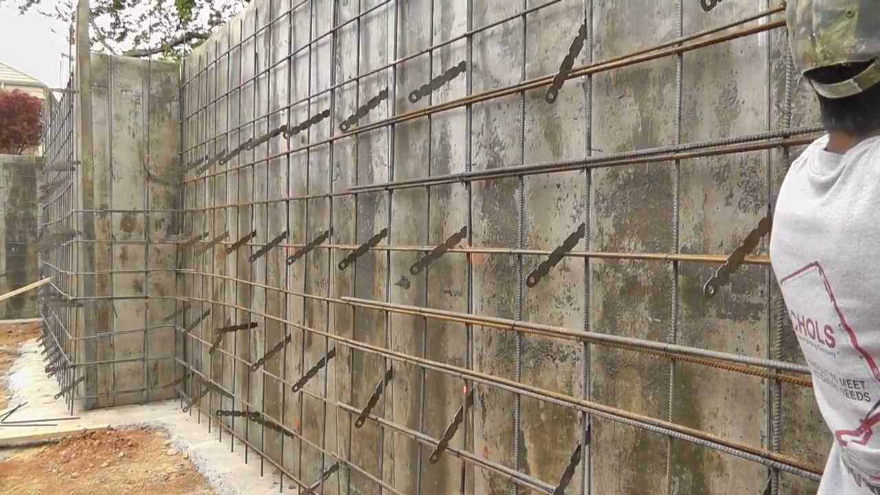 Steel Wall Form : Missionary ridge home vlog forming for concrete