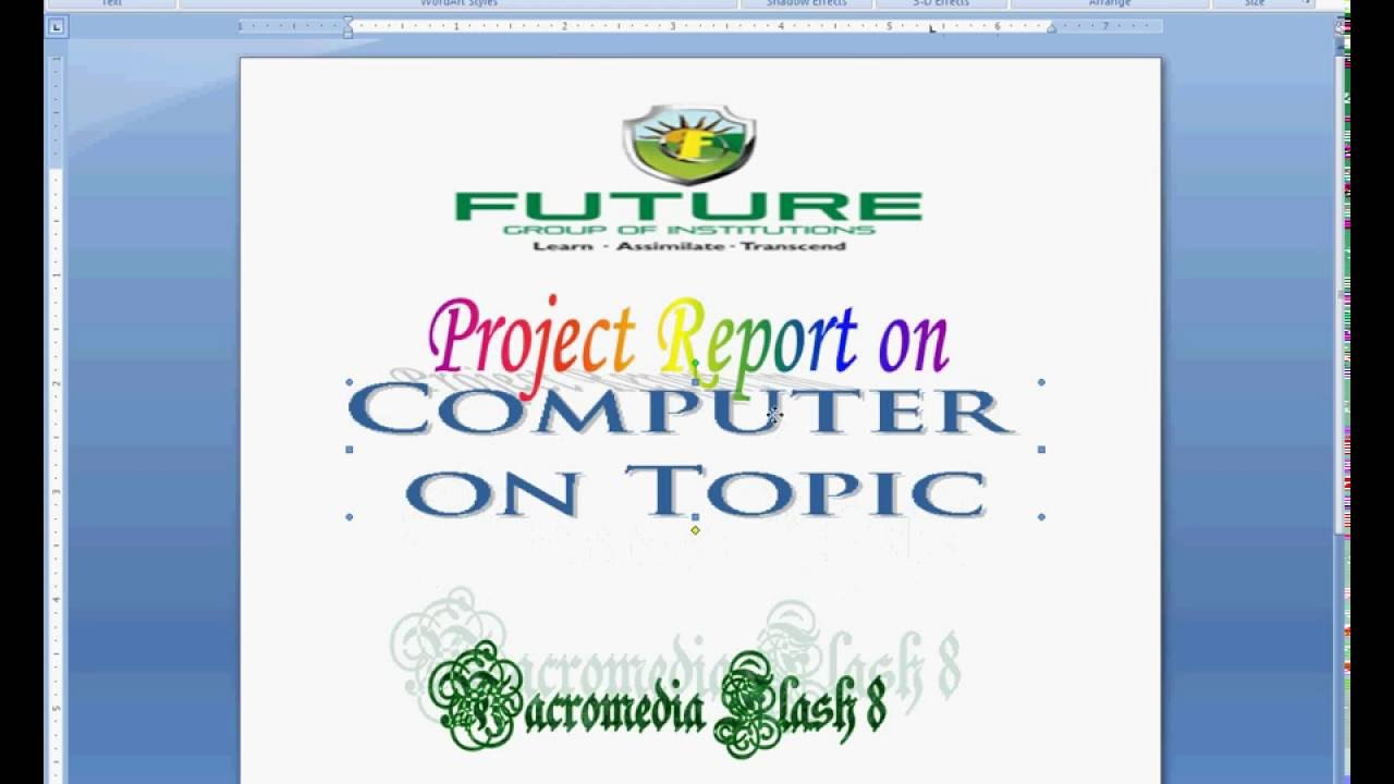 ms word project report