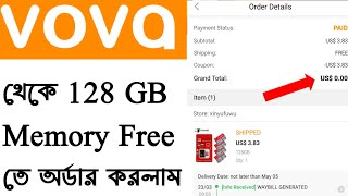 128 GB Memory Free ordered from VOVA app || Vova app Freebies product order process A to Z ||