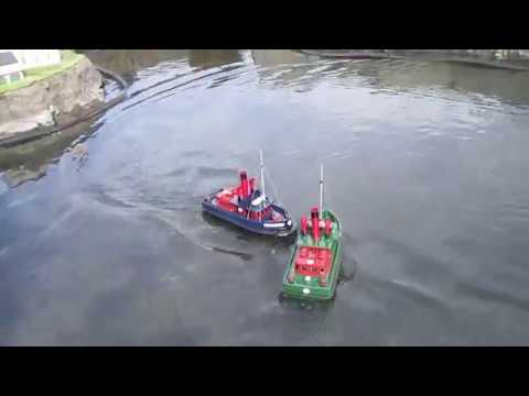 Remote Control Boats at the Model Village Clonakilty