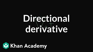 Directional derivatives tell you how a multivariable function chang...