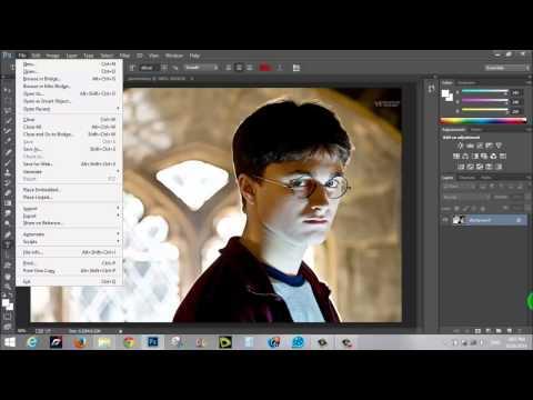 file menu in Photo Shop CC تعريف بقائمة file في الحلقة الثالثة