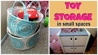 TOY ORGANIZATION IDEAS in a SMALL HOME
