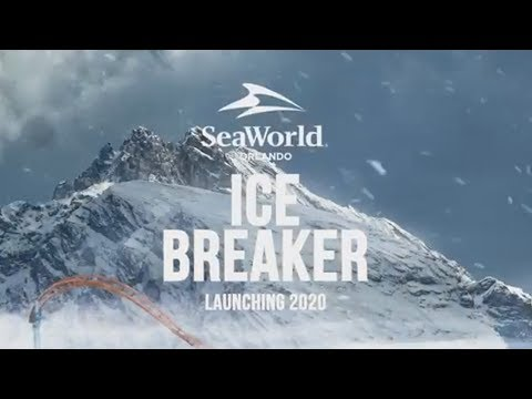 Ice Breaker Teaser - NEW FOR 2020 Launch Roller Coaster at SeaWorld Orlando