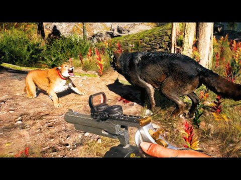 Far Cry 5 - Animal Fights / Animal Attacks