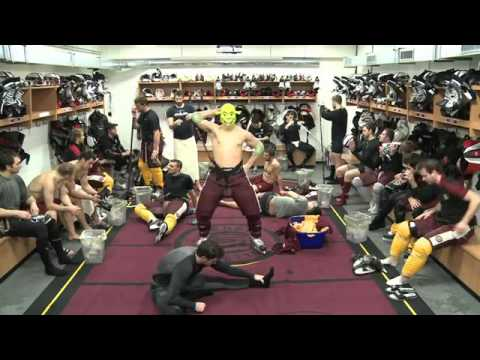 Professional hockey team funny Harlem Shake