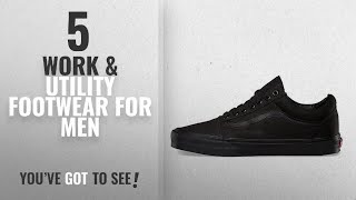 Top 10 Work & Utility Footwear For Men [2018]: Vans Unisex Adults' Old Skool Classic Canvas Shoes