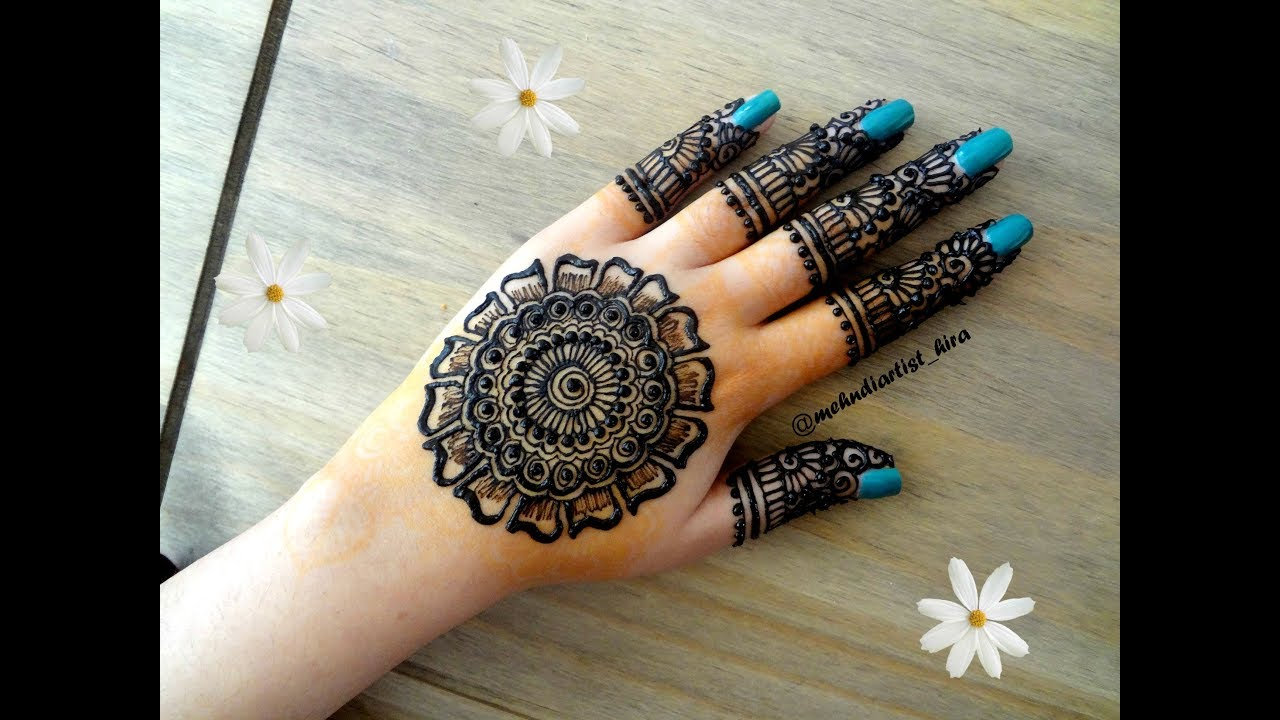 Beautiful latest simple easy arabic gulf mandala henna mehndi designs for  hands 2018