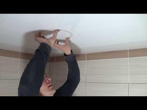 Как установить потолочный светильник на натяжной потолок