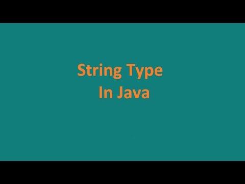 string-types-in-java- -java-programming-tutorials- -java-online-training-course