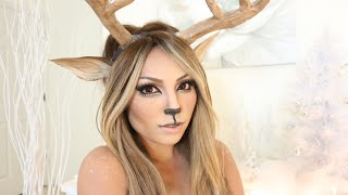 Reindeer Girl Makeup Tutorial Thumbnail