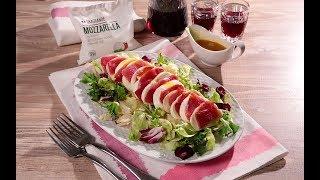 Салат с уткой и моцареллой