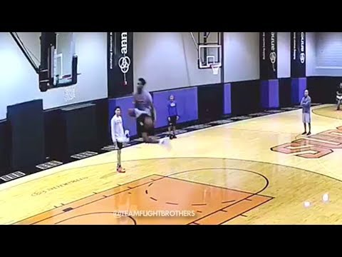 NBA Dunk Contest Practice! Derrick Jones JR aka Airplane Mode