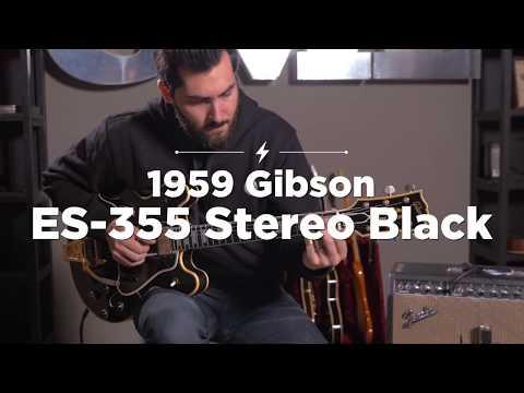 1959 Gibson ES 355 Stereo Black | CME Quick Riff | Ariel Posen