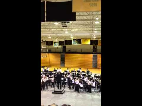 "East Hall Middle School Band ""Rudolph the Red Nosed Reindeer"""