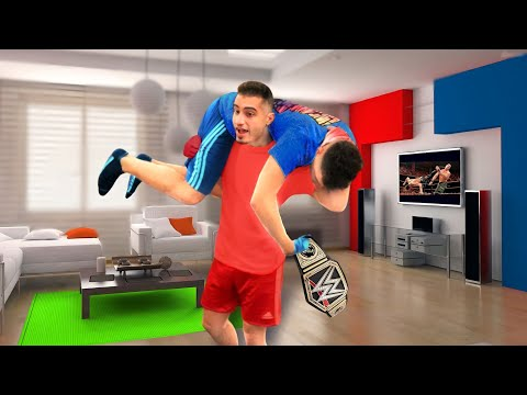 WWE MOVES AT HOME (LOSER GOES BALD)