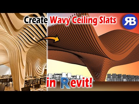 Revit Snippet: Create Wavy Ceiling Slats with Dynamo