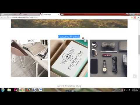 Virtue WordPress Theme Tutorial 1