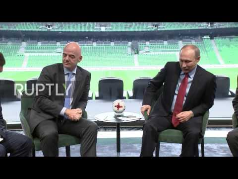 Russia: Putin and FIFA head check out Krasnodar's 'state of the art' training ground