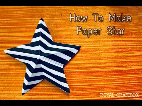 How to make simple & easy paper star | DIY Paper Craft Ideas, Videos & Tutorial (Royal Craftbox)
