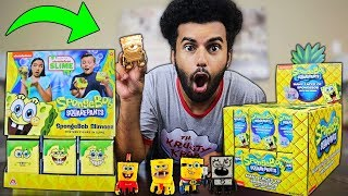 Opening 400$ Worth Of SPONGEBOB SQAUREPANTS Mystery Figures!! *RARE GOLD SPONGEBOB PULLED!!*