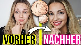 Full Face Using Only DIE GÜNSTIGSTE DM SCHMINKE 😱 Das BILLIGSTE Make Up der WELT | XLAETA