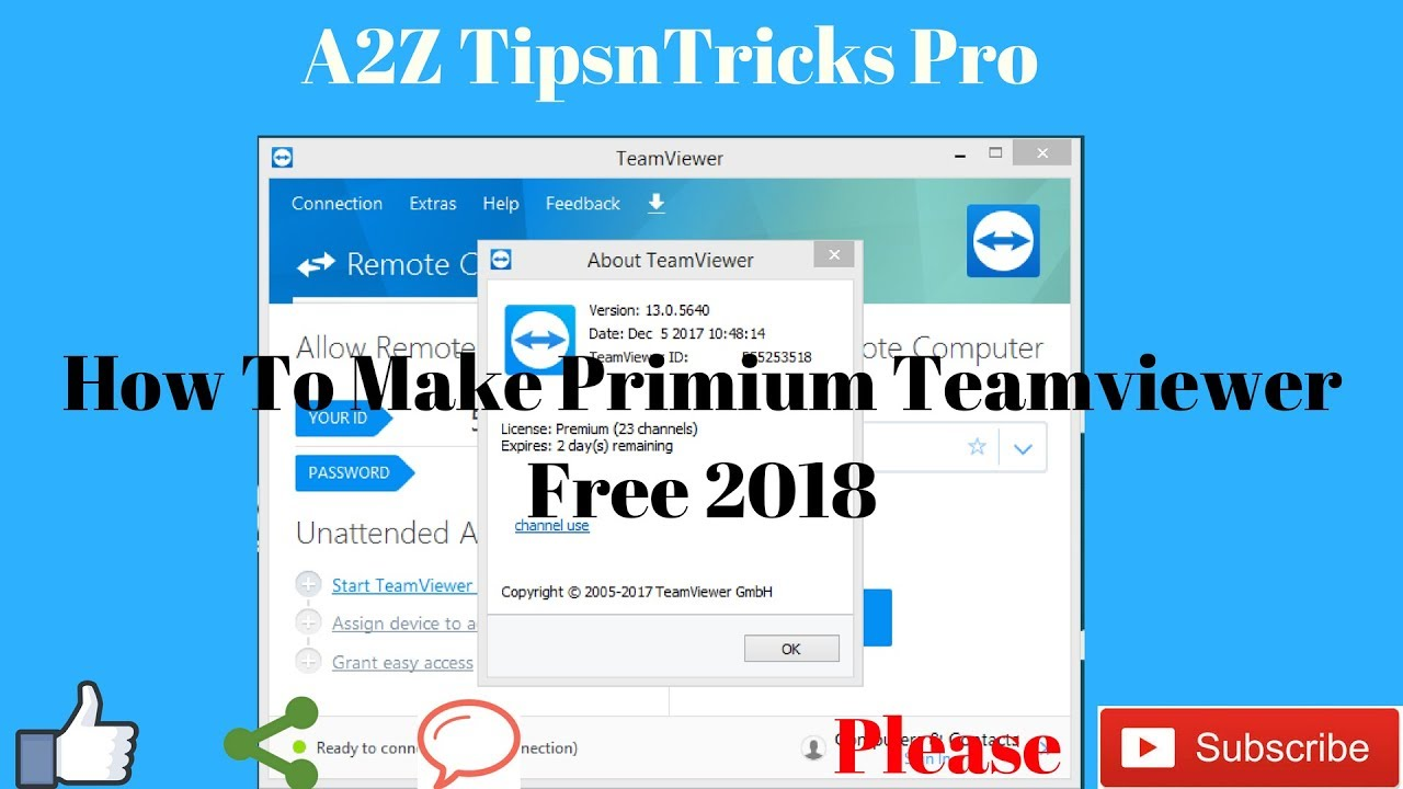 How To Make Free Premium license For Team Viewer 13