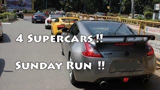 4 Supercars | Sunday Run | India | Bangalore #62
