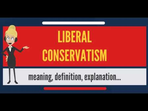 What is LIBERAL CONSERVATISM? What does LIBERAL CONSERVATISM mean?
