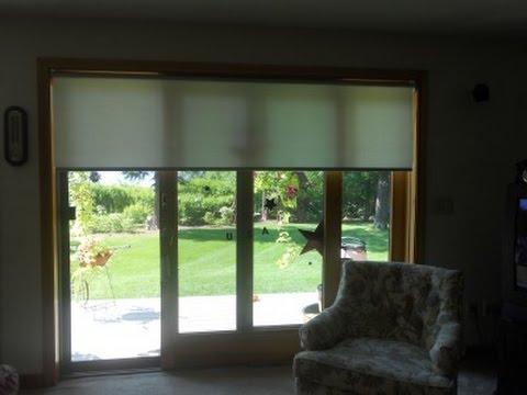 Horizontal Blinds For Sliding Glass Doors Youtube