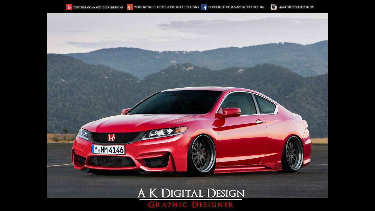 Honda Accord 2014 Coupe V6 >> 2013 Honda Accord Coupe Modified - Slammed - YouTube