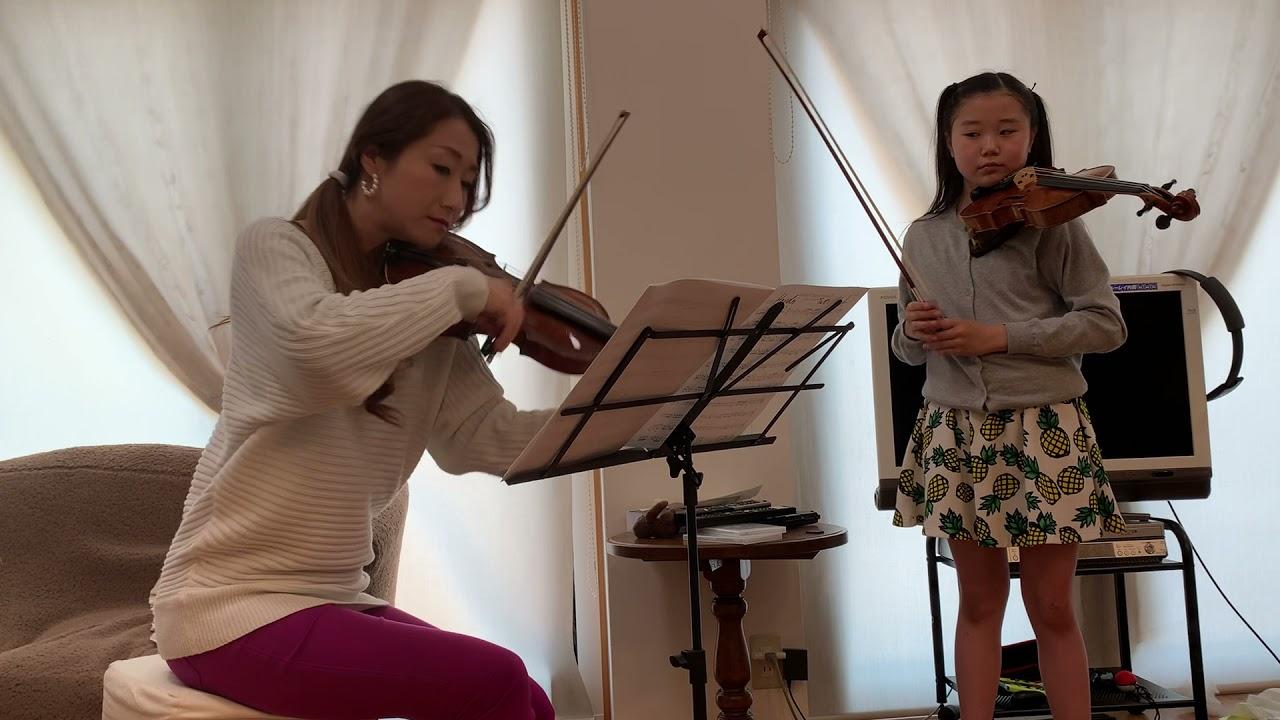 なっちゃんとななこさんバイオリン演奏【ハイドンのバイオリンコンチェルト】