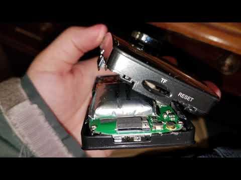 GiiNii GD188X Dual Lens Dash Camera Battery Replacement