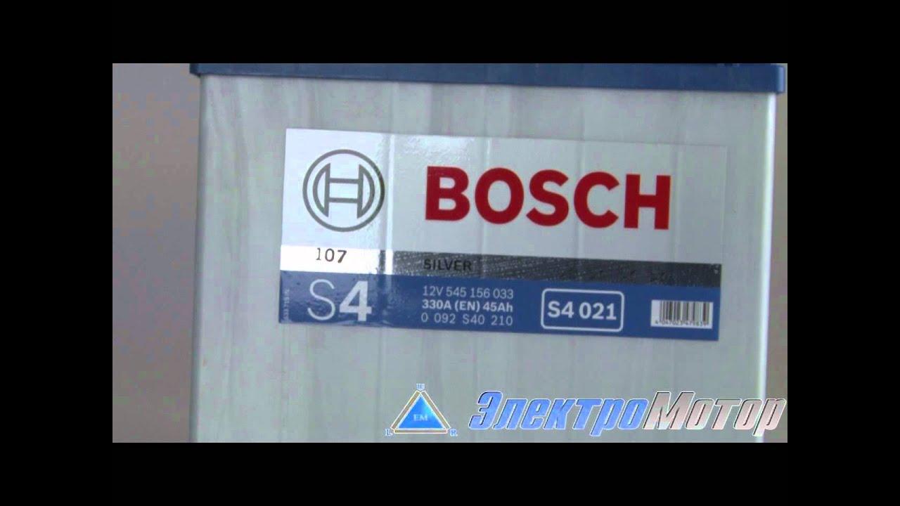 9 авг 2017. Автомобильный аккумулятор bosch s4 005 silver купить аккумулятор: http:// akbmag. Ru/catalog/akkumulator-bosch-s4-005-60r-540a-242x175x190. Html?. Utm_source=yout.