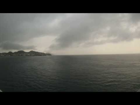 Basseterre, St. Kitts - Independence of the Seas Arrival Time Lapse HD (2013)