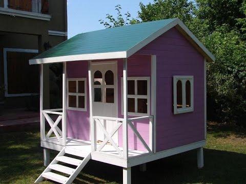Como hacer casas de madera para ni os youtube for Casas de plastico para jardin