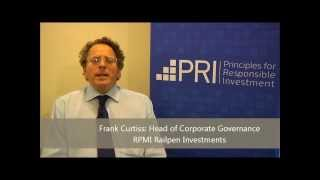 Frank Curtiss, Head of Corporate Governance at RPMI Railpen Investments