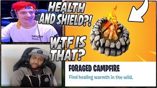 Streamers React To The New FORAGED CAMPFIRE Feature! Campfires Now BUFFED!