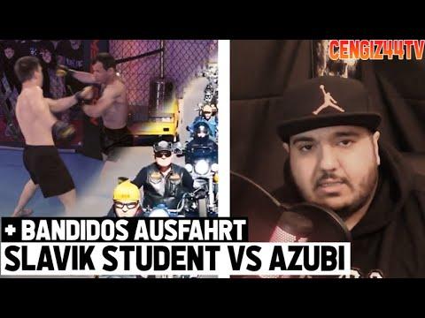 Cengiz44TV   Studenten Boxerrei bei Slavik Fame4Pain und Bandidos Ausfahrt