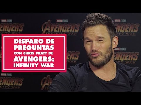 Disparo de preguntas con Chris Pratt de Avengers: Infinity War  Oh My Disney
