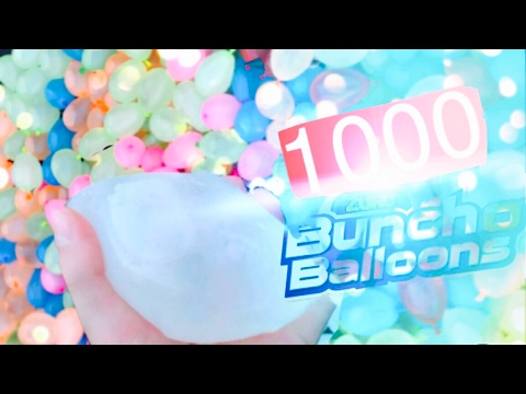 1000 Buncho Balloons On A Trampoline?!? | Memorial Day Special | INSANE!!