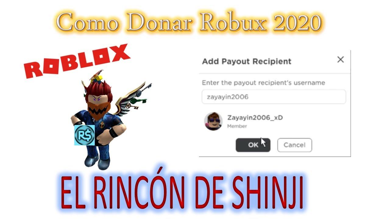 Como Donar Robux 2020 Youtube