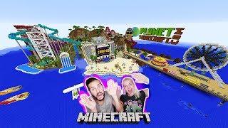 KAAN + NINA IM FREIZEITPARK PARADIES! Achterbahnen & Wasserpark - Olann Island Minecraft Deutsch