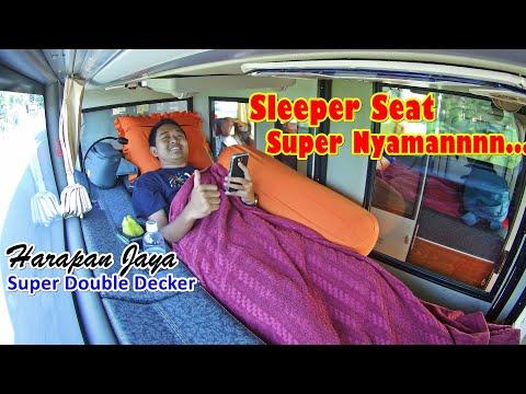 """""""Sleeper Class"""" BUS MALAM TERBAIK di JAWA SAAT INI. KURSI TIDUR & KURSI PIJAT. Trip by Harjay ke JKT"""