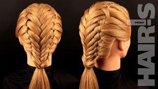 Учимся плести французские косы с колоском - видеоурок (мастер-класс) Hair's How