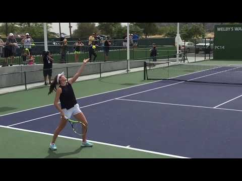 Johanna Konta At Indian Wells