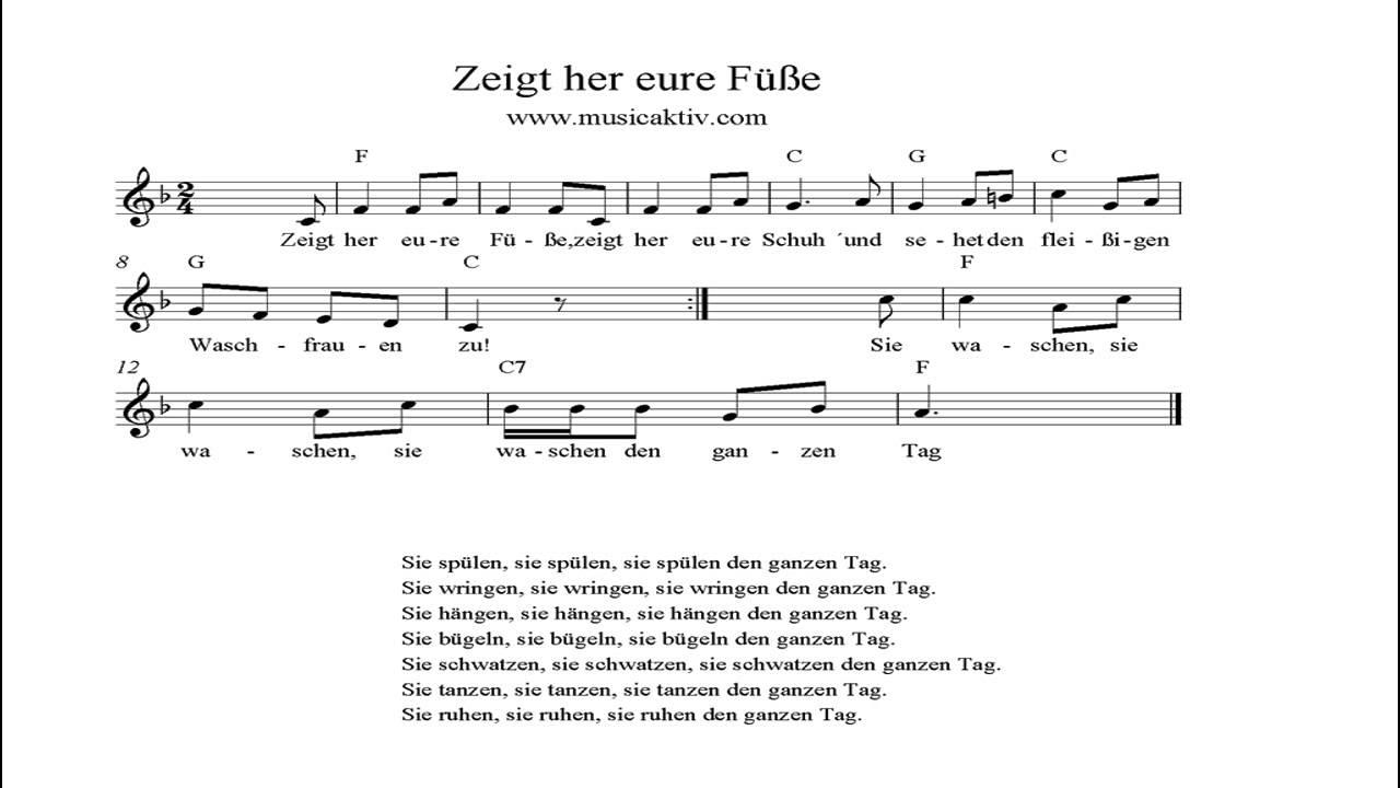 Zeigt Her Eure FГјГџe Liedtext